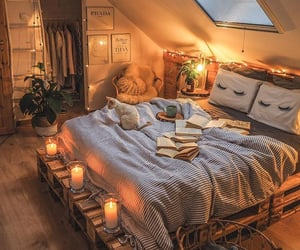 autumn, bedroom, and home image