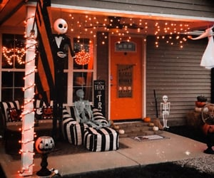autumn, black and white, and decor image