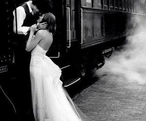 love, train, and couple image