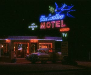 aesthetic, motel, and neon image