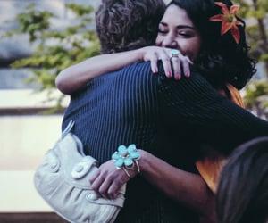 boyfriend, couple, and hug image