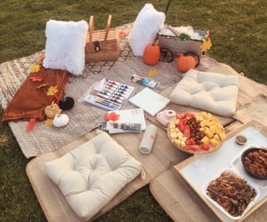 anniversary, fall, and picnic image