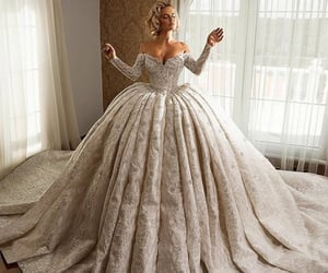 bride, fashion, and weddingdress image