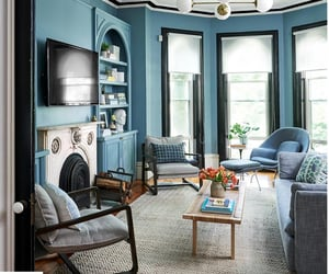 blue, decor, and living room image