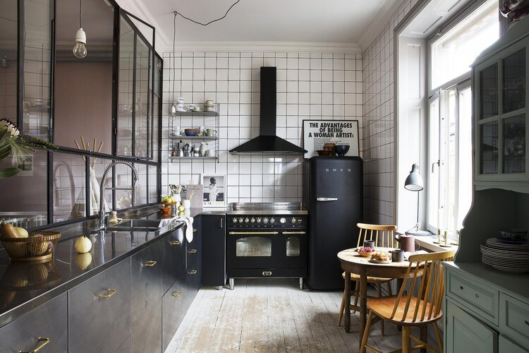 apartment, black, and cook image
