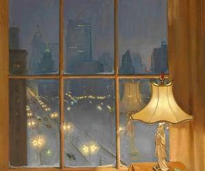 night, scene, and window image