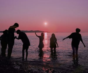 beach, friendship, and fun image