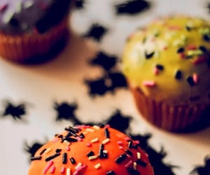 autumn, background, and cupcakes image