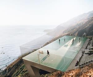 sea, Basketball, and nature image