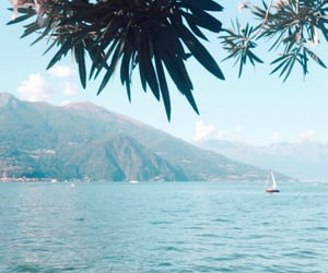 bellagio, boat, and italy image