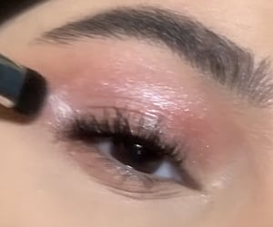 eyeshadow, glitter, and khelan image
