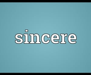 sincere, sincerity, and positive traits image