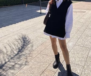 everyday look, white blouse, and black ankle boots image