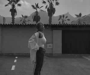 black and white, fashion, and filter image