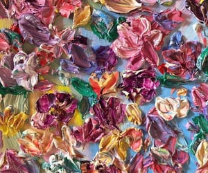 art, colors, and flowers image