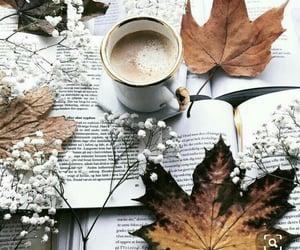 autumn, books, and chocolate image
