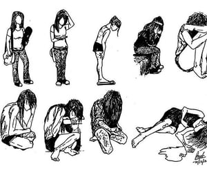 depression, sad, and anorexia image
