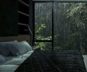 bedroom and rain image