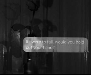 hand, sad, and black and white image