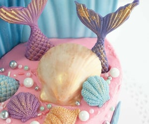 cakes, mermaid, and sirena image