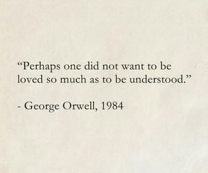quotes, George Orwell, and love image