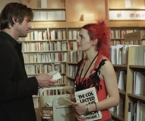 book, couple, and film image