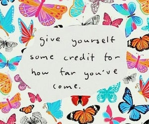 quotes, inspiration, and butterfly image