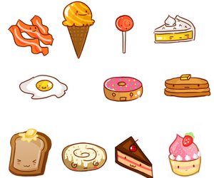 food, cake, and donut image