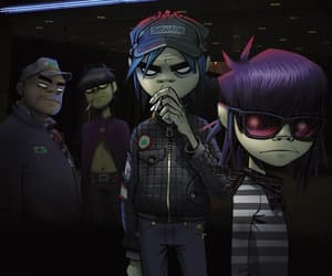 gorillaz, 2d, and noodle image
