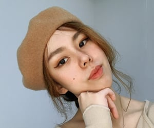 beret, freckles, and hat image