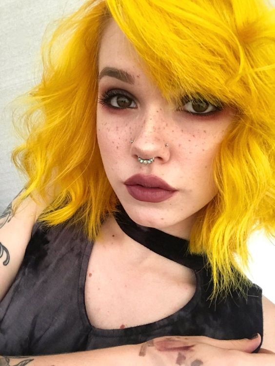 colorful hair, dyed hair, and hairstyle image
