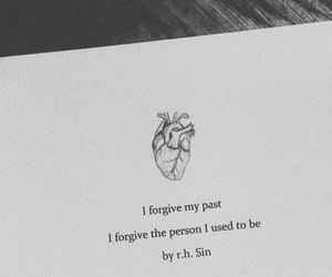 black and white, book, and forgive image
