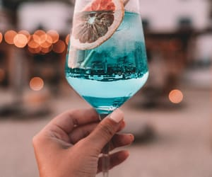 aesthetic, blue, and drink image
