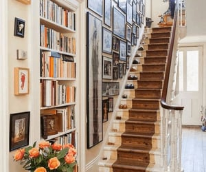 home, stairs, and vintage image
