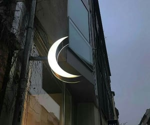moon, aesthetic, and light image