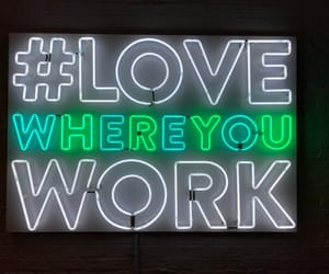 neon, sign, and wall art image