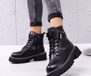 leather ankle boots, navy boots, and leather short pistol boot image