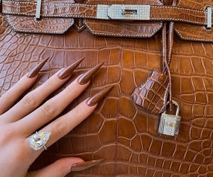 bag, nails, and kylie jenner image