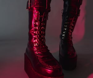 goth, grunge, and red image