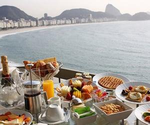 food, breakfast, and beach image
