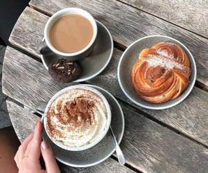 autumn, cafe, and cinnamon buns image