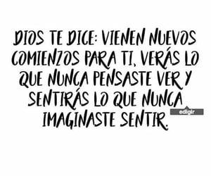 dios, ver, and imaginar image