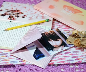 art, moleskine, and pink image