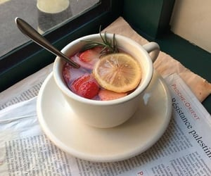drink, tea, and fruit image