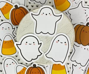 autumn, boo, and ghost image
