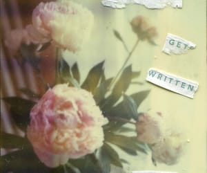 Collage, flowers, and words image