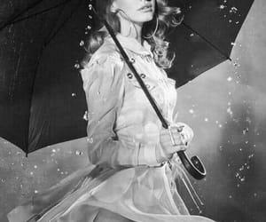 lana del rey, rain, and black and white image