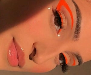 orange, eyeshadow, and fashion image