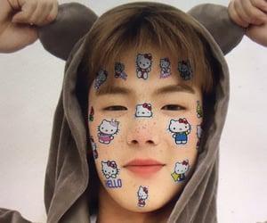 hello kitty, shownu, and son hyunwoo image