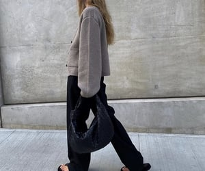 knitwear, autumn fall style, and black bag purse image